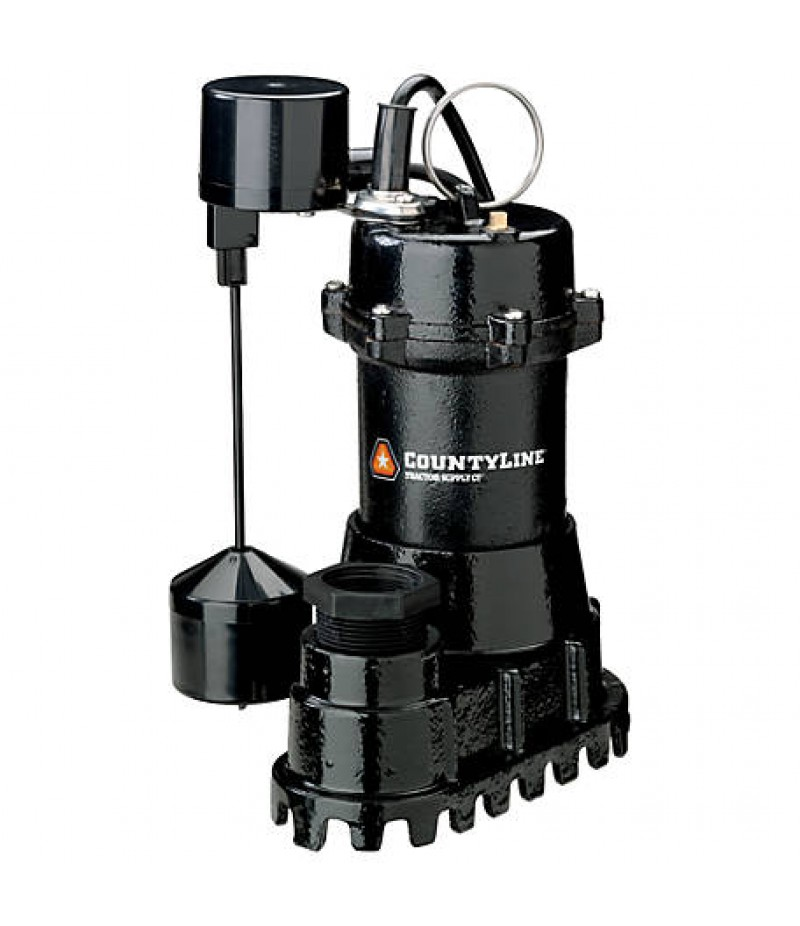 CountyLine Cast Iron Submersible Sump Pump with Vertical Switch, 1/2 HP