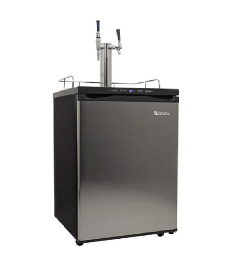 24 Inch Wide Stout Kegerator with Digital Display