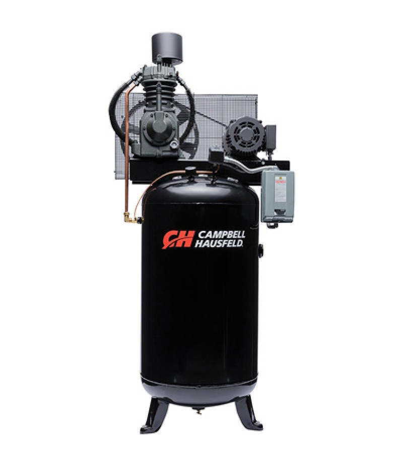 Campbell Hausfeld Electric Stationary Air Compressor - 7.5 HP, 23.7 CFM 175 PSI, 230 Volt Single Phase
