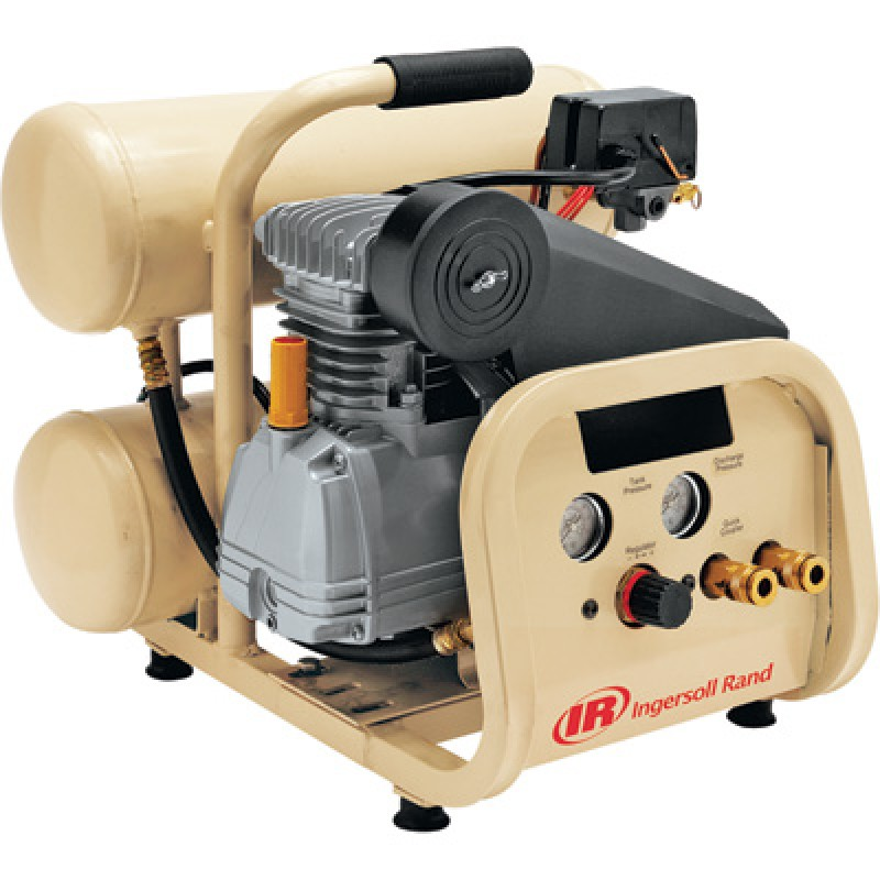 Ingersoll Rand Twin-Stack Portable Electric Air Compressor - 2 HP, 4-Gallon, 4.3 CFM