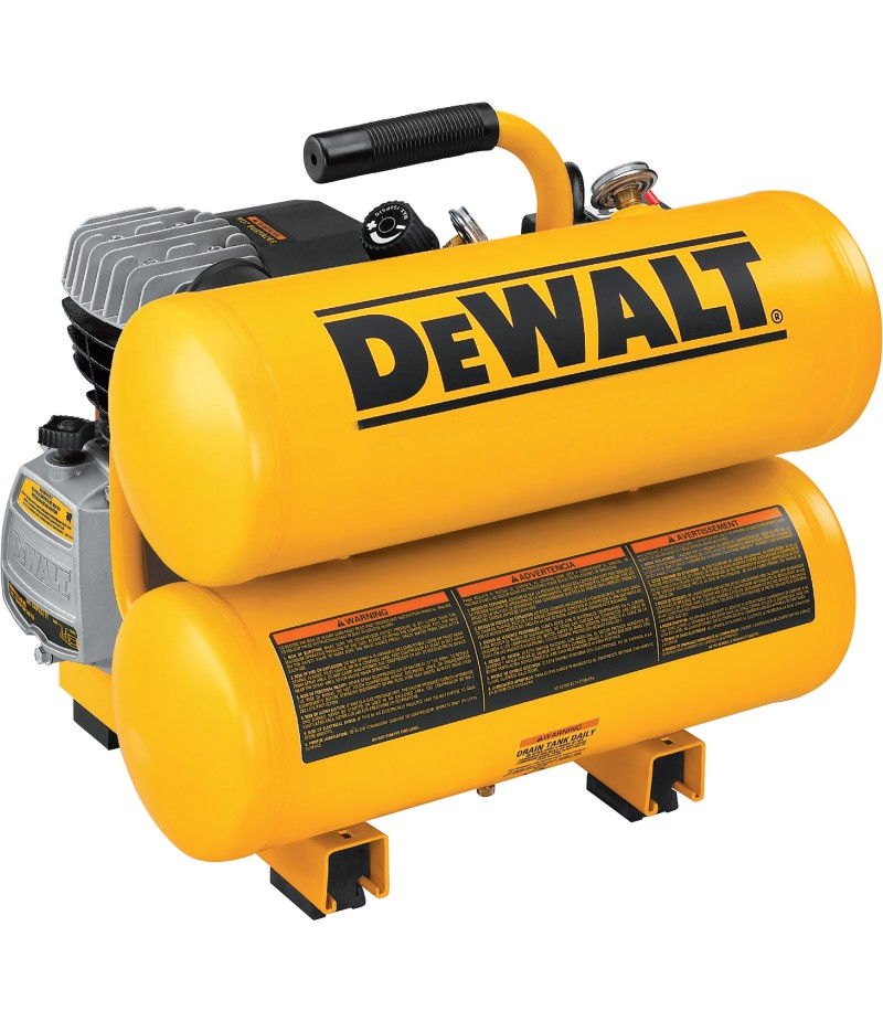 DEWALT Twin Stack Portable Electric Air Compressors - 1.1 HP, 4-Gallon, 4.0 CFM