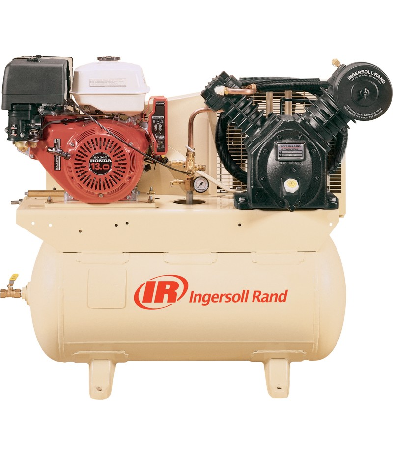 Ingersoll Rand 24 CFM 175 PSI, 13 HP Horizontal Air Compressor with Alternator