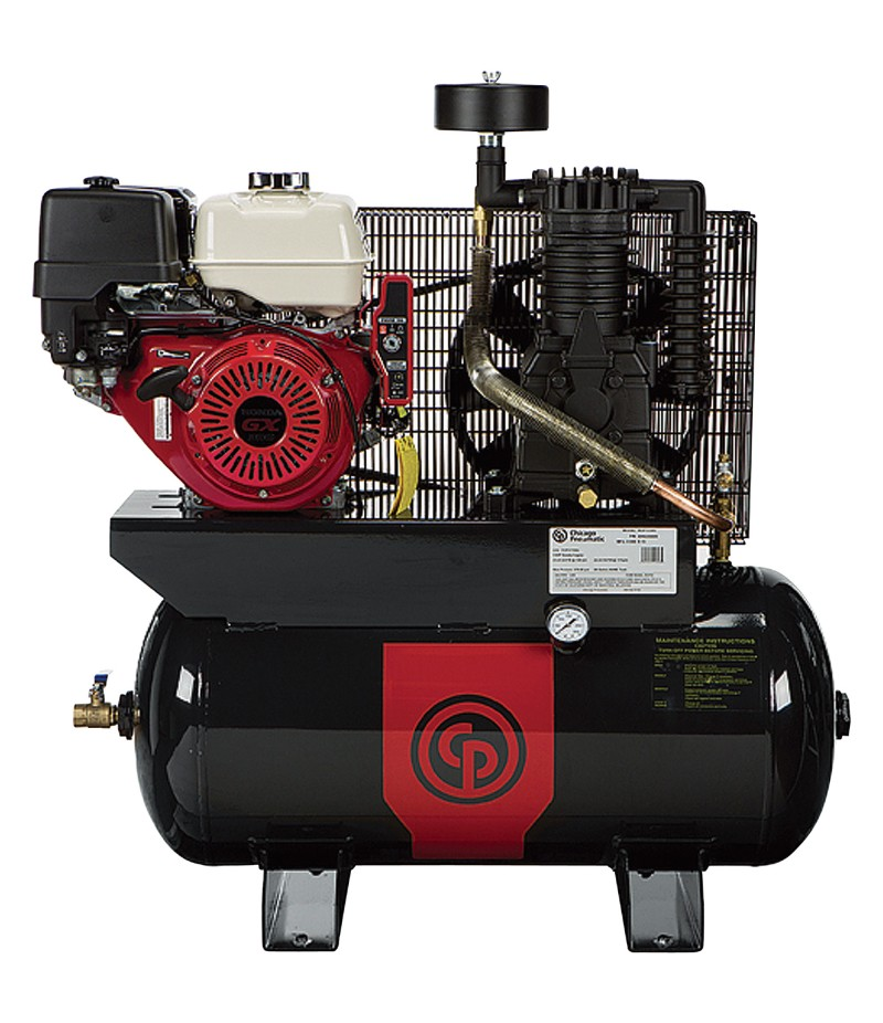 Chicago Pneumatic Gas-Powered Air Compressor - 11 HP, 30 Gallon