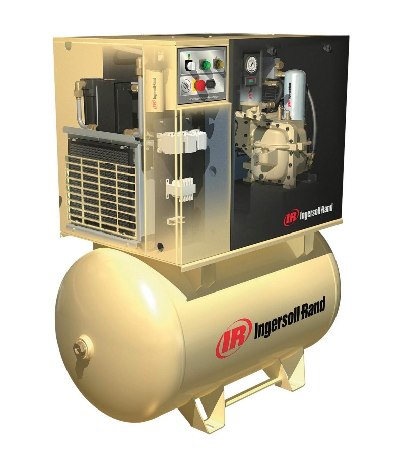 Ingersoll Rand Rotary Screw Compressor w/Total Air System - 230 Volts, 1-Phase, 7.5 HP, 28 CFM