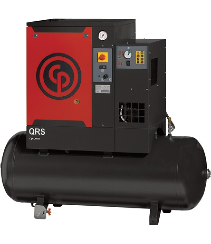 Chicago Pneumatic Quiet Rotary Screw Air Compressor with Dryer - 7.5 HP, 230 Volts, 1 Phase