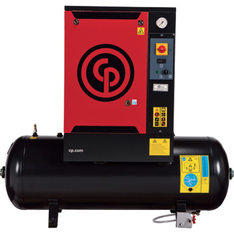 Chicago Pneumatic Quiet Rotary Screw Air Compressor - 5 HP, 230 Volts, 1 Phase