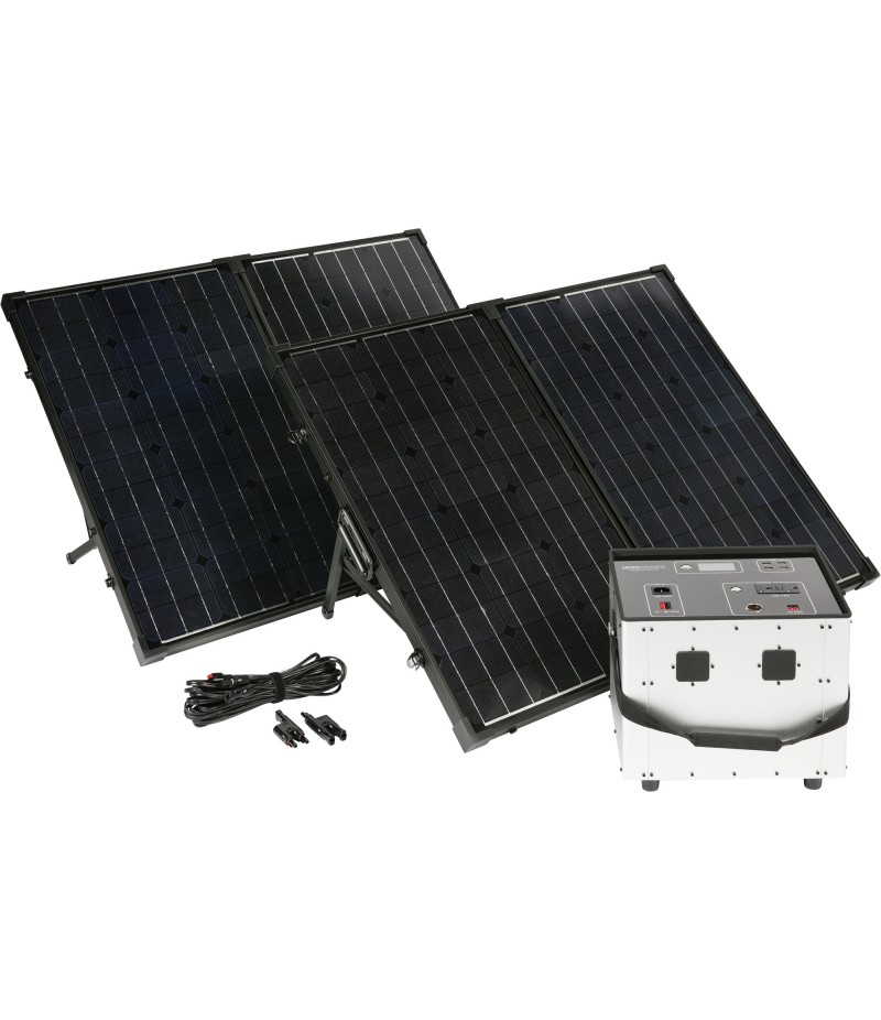 Humless Complete Solar Power System with Solar Generator - 3000 Surge Watts, 1500 Rated Watts