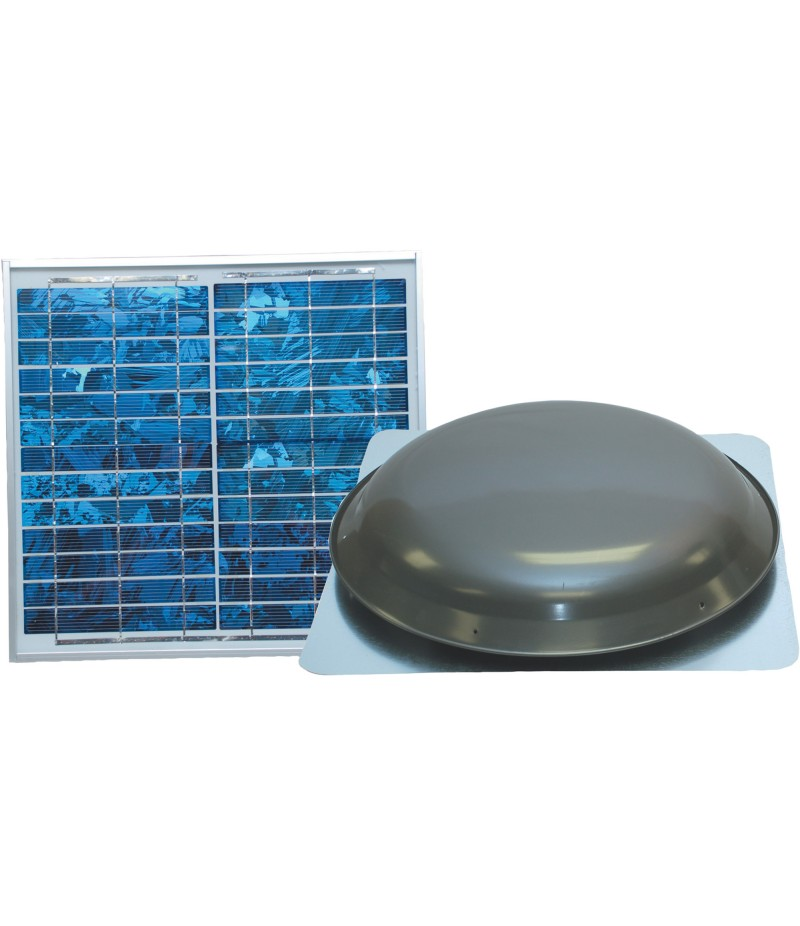 Ventamatic Solar-Powered Ventilating Fan with Panel - Roof-Mounted Ventilator, 1000 CFM