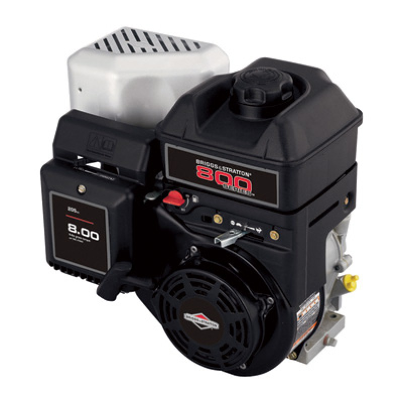 Briggs & Stratton 800 Series Horizontal OHV Engine with Ball Bearing-Supported PTO - 205cc, 3/4in.dia. x 2 27/64in.L Shaft