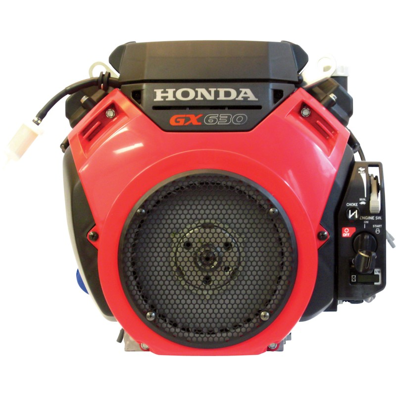 Honda V-Twin Horizontal OHV Engine with Electric Start – 688cc, GX Series, 1in. x 2 29/32in. Shaft