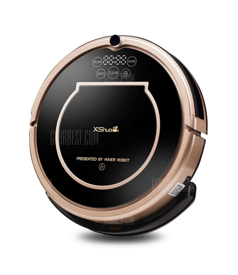 XShuai T370 Robot Vacuum Cleaner with Alexa Voice Control Wi-Fi Connected Self-Charging Gyroscope Navigation 1500Pa Powerful Suction HEPA Filter Pet Hair & Allergies Friendly - BLACK UK PLUG