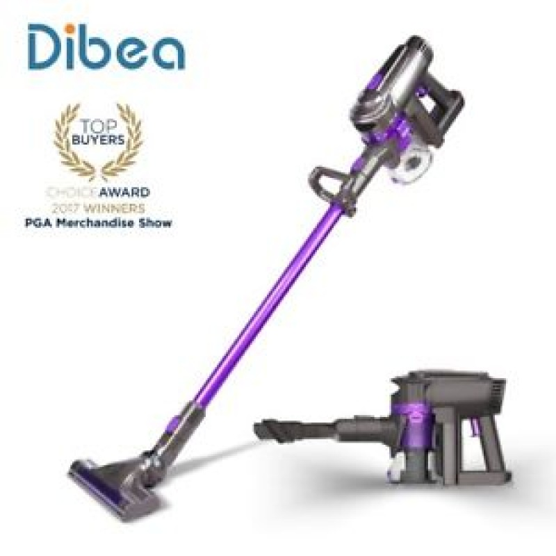 Dibea F6 2-in-1 Powerful Cordless Upright Vacuum Cleaner - PURPLE WITHOUT CLEANING CLOTH
