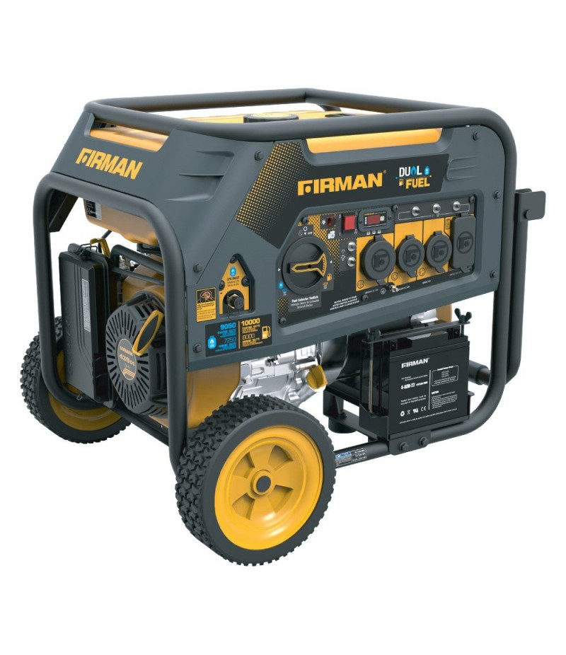 Firman H08051 Hybrid Series 8000 Watt Electric Start Dual Fuel Portable Generator
