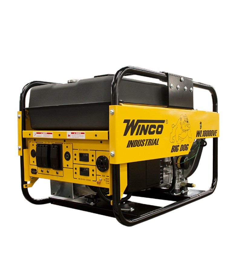 Winco WL18000VE - 15,000 Watt Electric Start Portable Generator w/ B&S Vanguard Engine