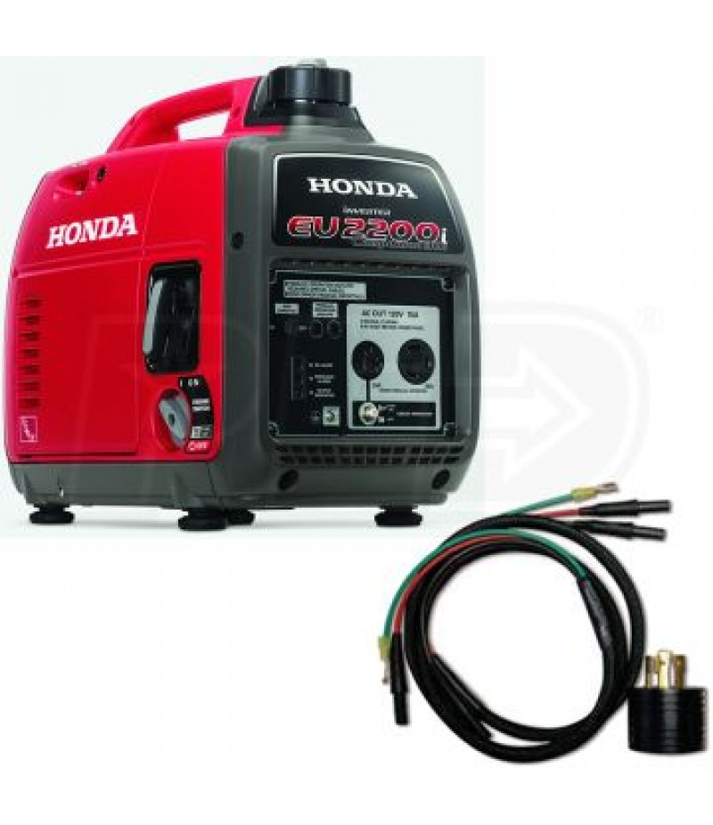 Honda EU2200i Companion 1800 Watt Portable Inverter Generator w/ Parallel Cables Kit