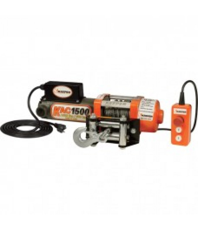 Keeper 110/120 Volt AC Powered Utility Winch - 1,500-Lb. Capacity