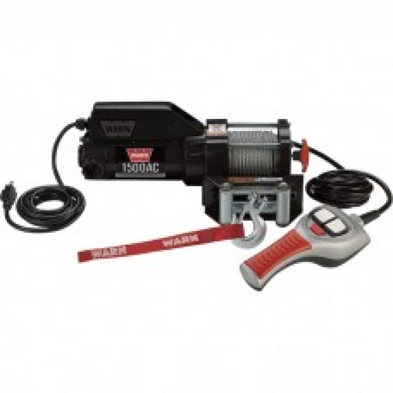 Warn Utility 120 Volt AC Powered Winch with Wired Remote - 1500-Lb. Capacity