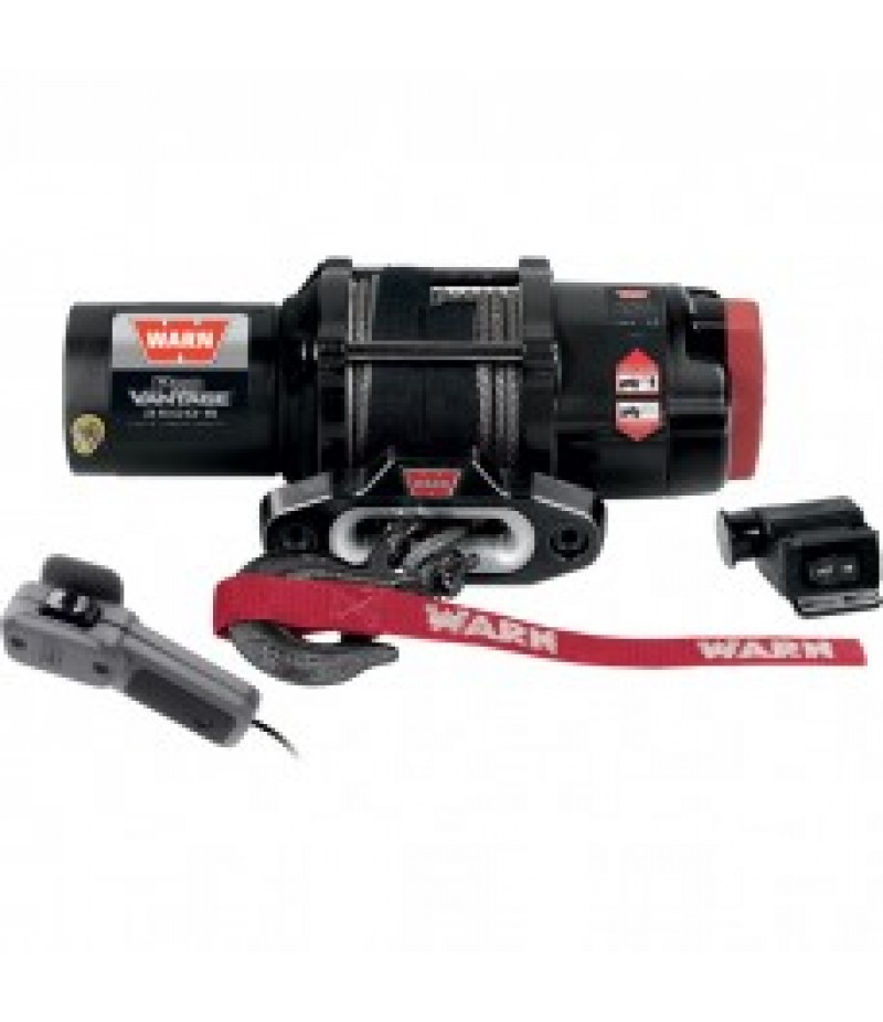 Warn ProVantage 3500 Series 12 Volt ATV Winch - With Synthetic Rope, 3500-Lb. Capacity,