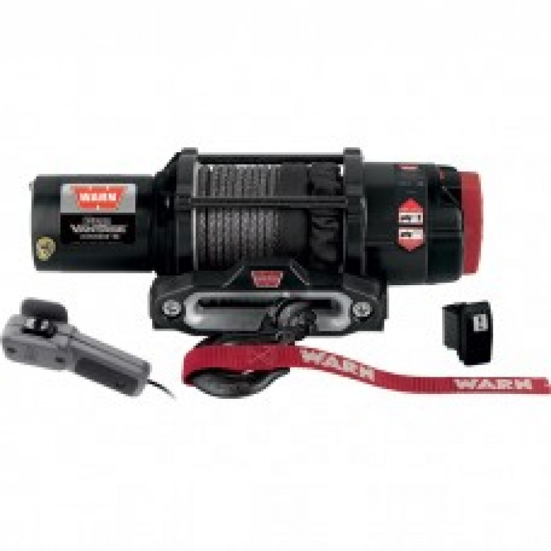 Warn ProVantage 4500 Series 12 Volt ATV Winch - With Synthetic Rope, 4,500-Lb. Capacity