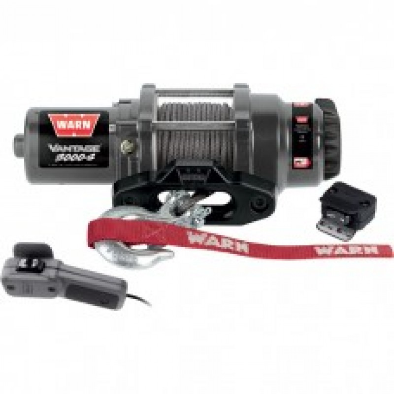 Warn Vantage 3000 Series 12 Volt ATV Winch - 3000 Lb. Capacity, With Synthetic Rope