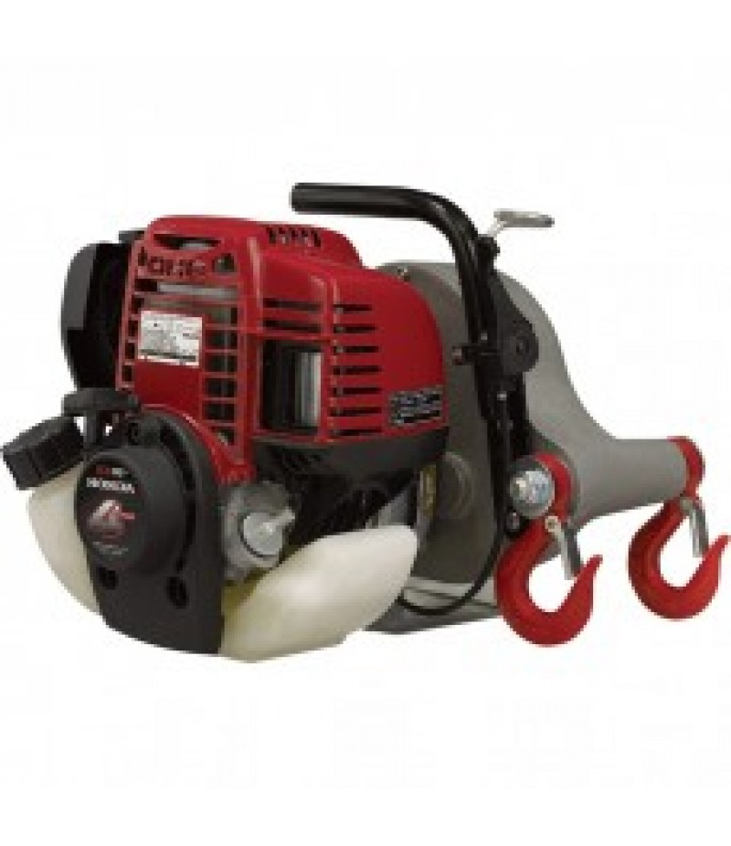 Portable Gas-Powered Capstan Winch - 35cc Honda Engine, 1550-Lb. Line Pull