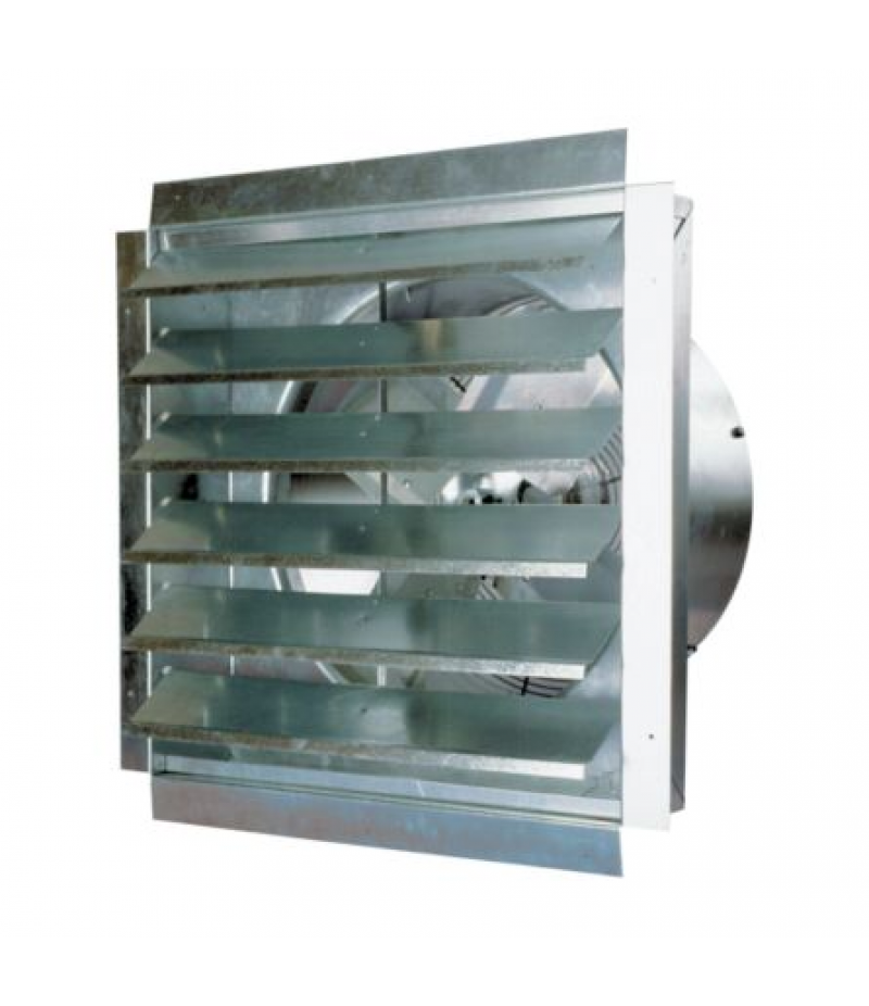 MaxxAir Heavy-Duty Exhaust Fan with Integrated Shutter, 18 in. Blade
