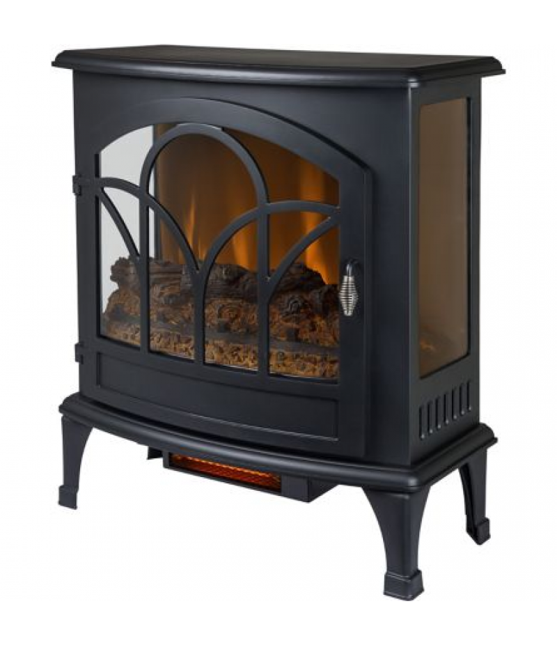 Muskoka 25 in. Curved Front Infrared Panoramic Electric Stove, Black