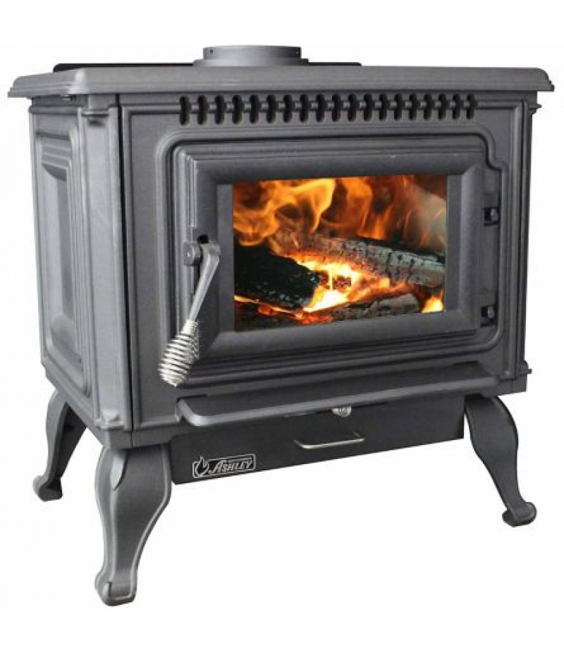 Ashley EPA-Certified Cast Iron Wood 2,000 sq. ft. Freestanding Stove, AC2000