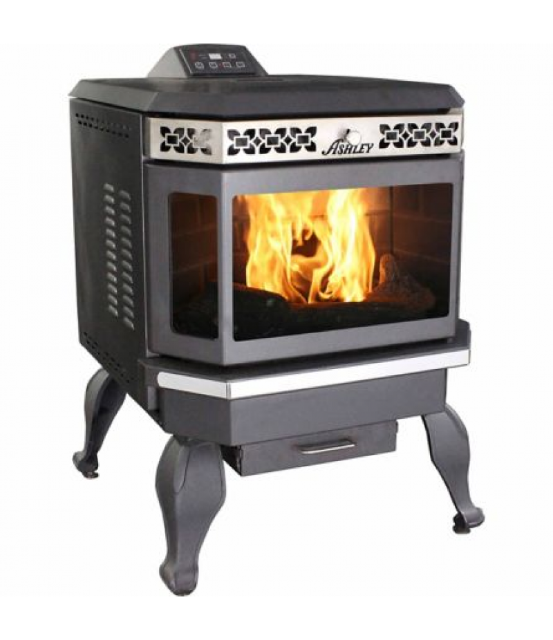 Ashley Bay Front Pellet Stove with Legs, 2,200 sq. ft.