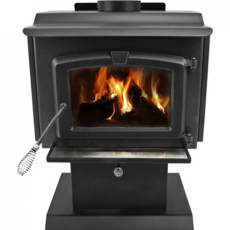 Pleasant Hearth EPA Certified Wood-Burning Stove with Variable Blower, 1,200 sq. ft.