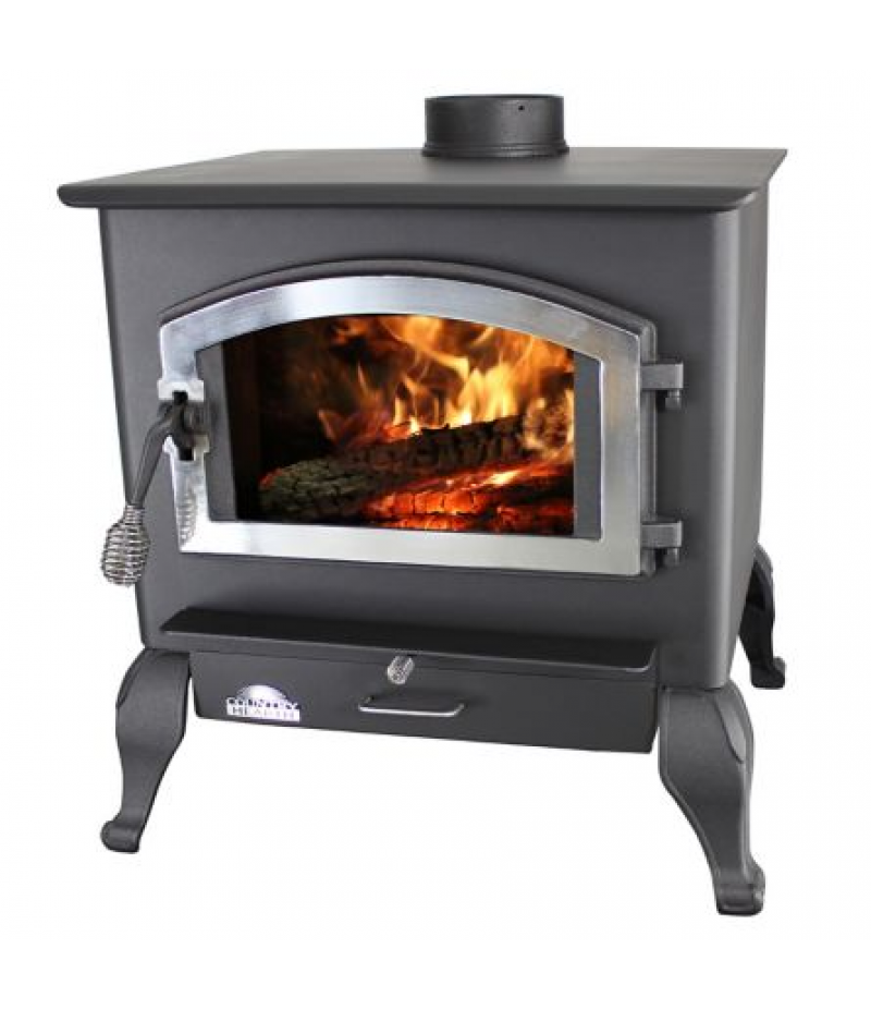 US Stove Magnolia Wood Stove with Blower and Legs, 2,500 sq. ft.