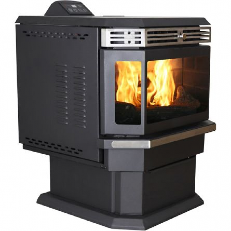 US Stove Pellet Stove with Bay Front, 2,200 sq. ft.