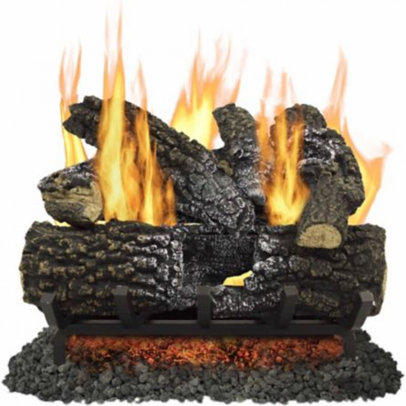 Pleasant Hearth VL-AA18D 18 in. Arlington Ash Vented Gas Log Set, 45,000 BTUs