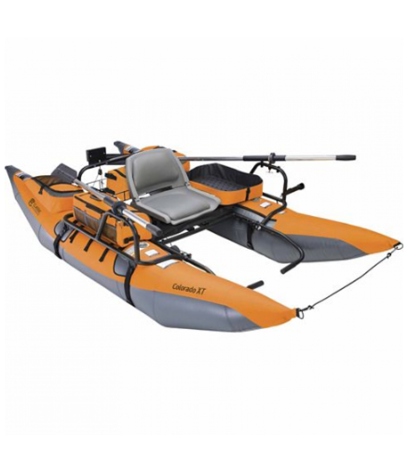 Classic Accessories Colorado XT Pontoon Boat, Pumpkin and Grey, 56 in. W x 108 in. L