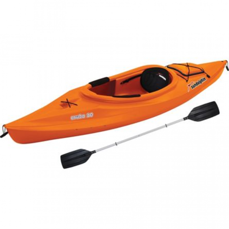 Sun Dolphin Aruba 10 ft. Kayak with Paddle, Tangerine