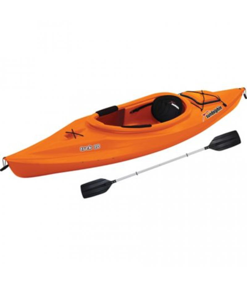 Sun Dolphin Trek 10 Sit-In Kayak with Paddle, Tangerine