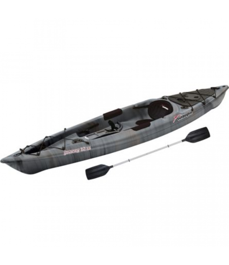 Sun Dolphin Journey 12 ft. SS Fishing Kayak with Paddle, Gray Swirl